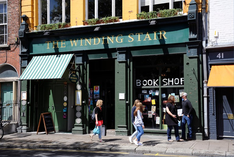 The Winding Stair, book shop in Ormond Quay. Lower, Dublin, Ireland