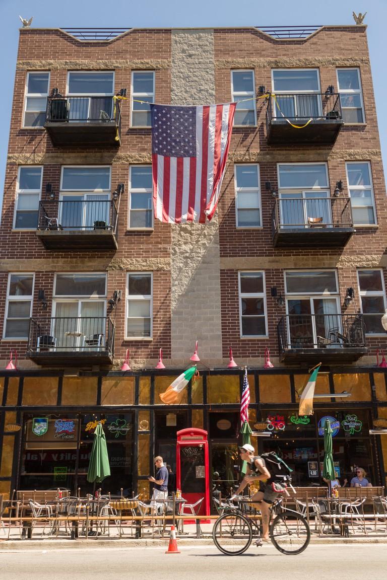 Irish bar in Chicago