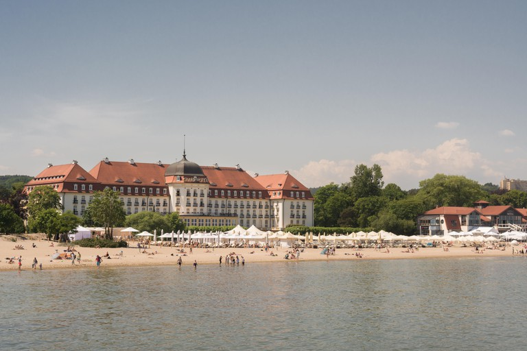 Sopot, Poland - Sofitel Grand Sopot luxury hotel and beach