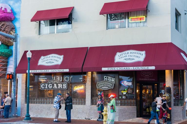 Little Havana in Miami Florida with famous Little Havana Cigar Factory on SE 8th Street