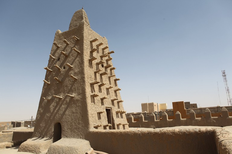 The Djingareyber mosque is pictured on February 4, 2016 in Timbuktu, central Mali.