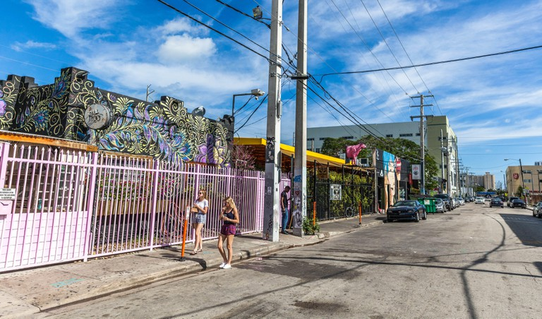 Street scene at Wynwood, Miami, Florida, USA.