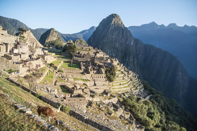Ruins of Machu Picchu city in the morning, Peru