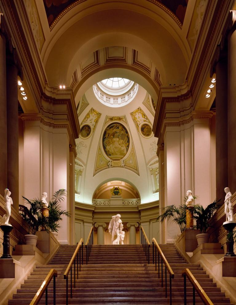 Interior view of Museum of Fine Arts, Boston, USA.