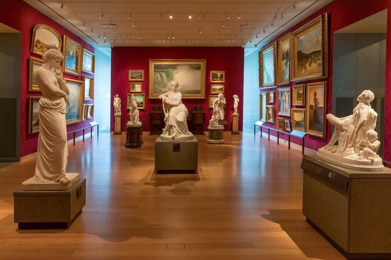 American Galleries, interior, Museum of Fine Arts, Boston, Mass, USA.