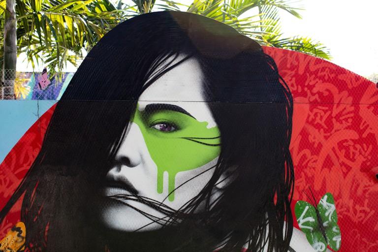 Art and Graffiti in Wynwood Walls Miami, USA.