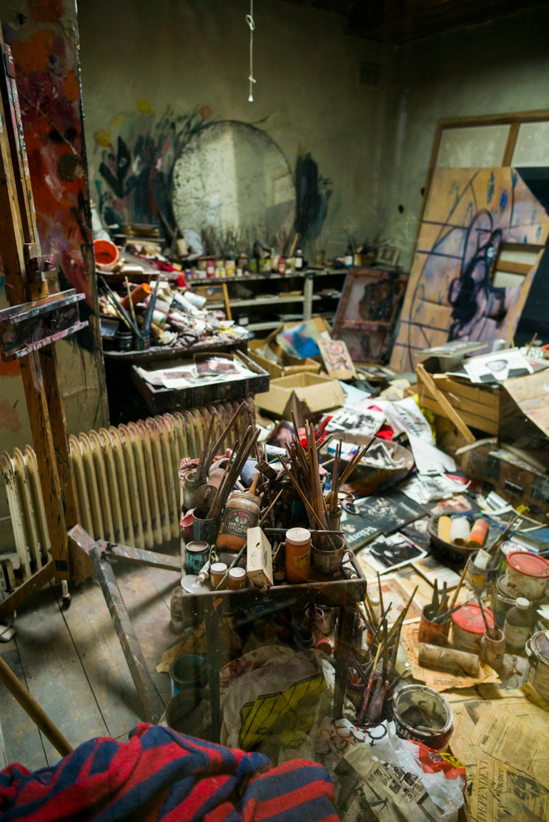 Reconstructed studio of painter Francis Bacon, The Hugh Lane, Dublin City Gallery.