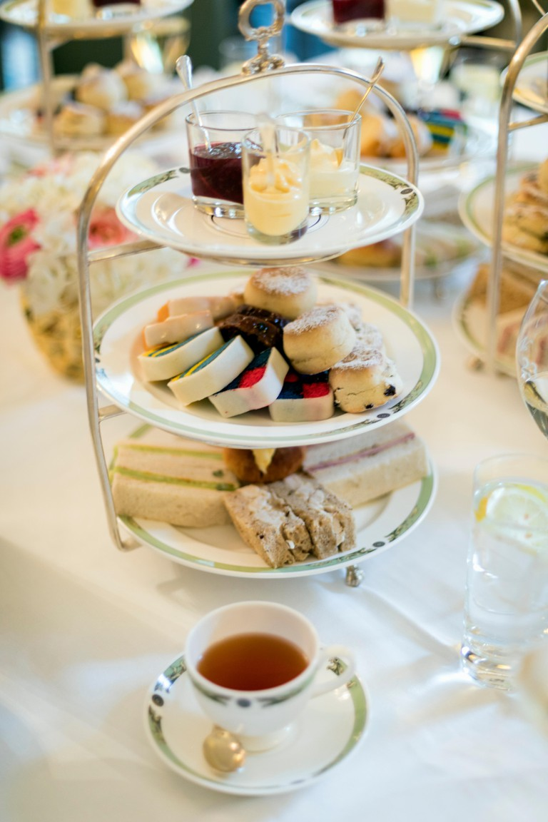 The Merrion Hotel high tea service, Dublin.