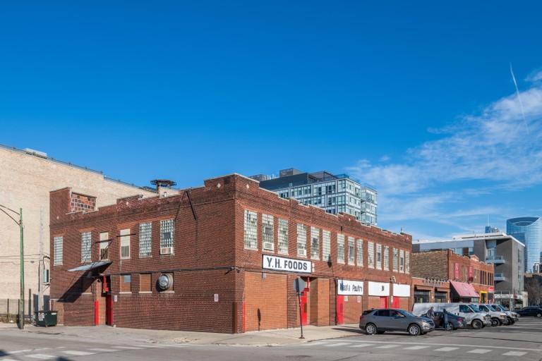 Buildings in Fulton Market neighborhood