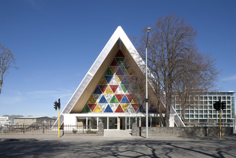 Transitional Cathedral, Cardboard Cathedral, Christchurch, New Zealand.