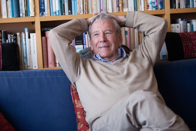 Amos Oz at his home in Tel-Aviv ,Israel - 01 Mar 2013