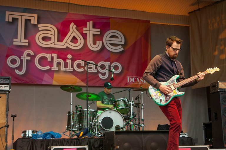 Weezer perform during the Taste of Chicago food festival, Chicago, USA