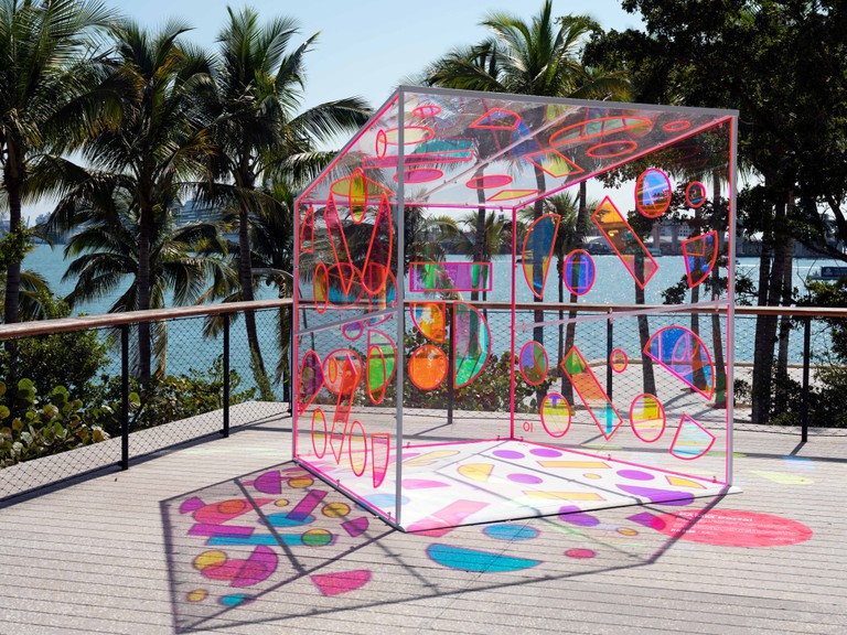 Outside art at the Perez Art Museum, Miami.