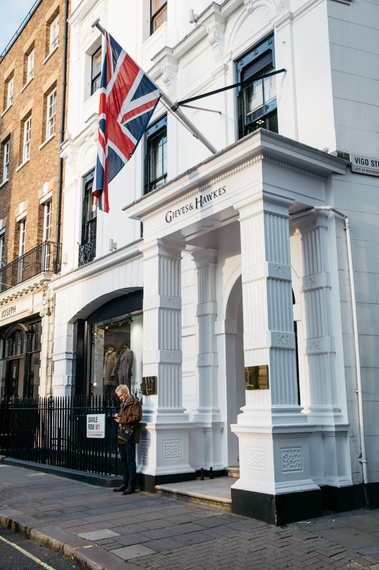 Savile Row is known for its bespoke tailoring