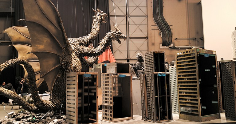 Godzilla sets and scale models in Toho Studios