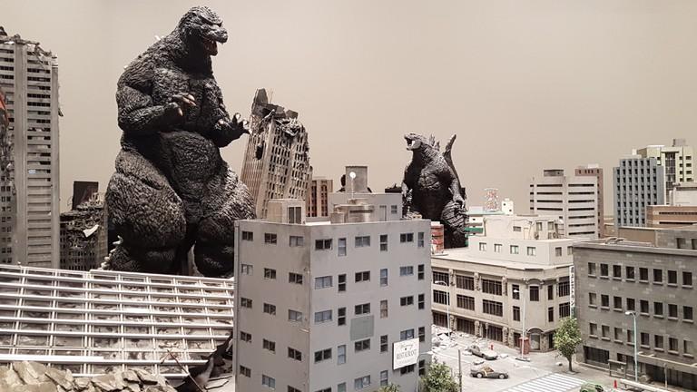 Godzilla model at Toho Studios