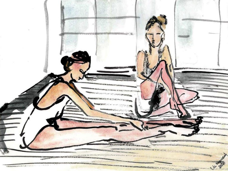Ballet Girls at St Cyprian's School illustration by Lucie