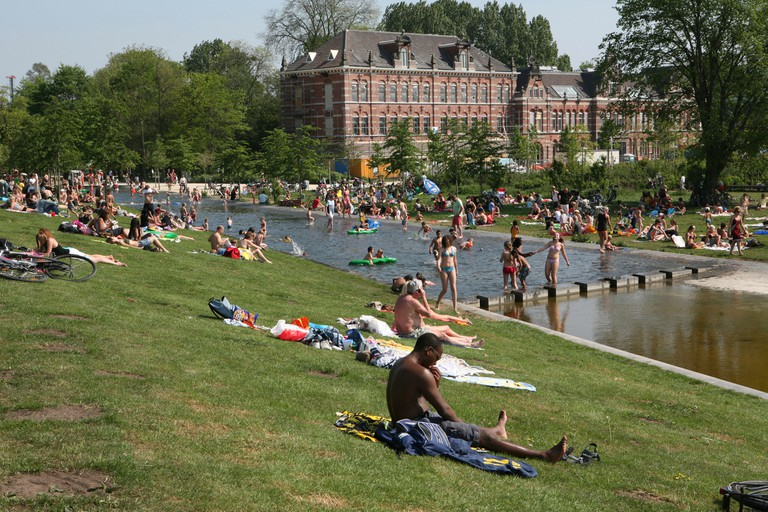 Westerpark is among the greenest parts of Amsterdam