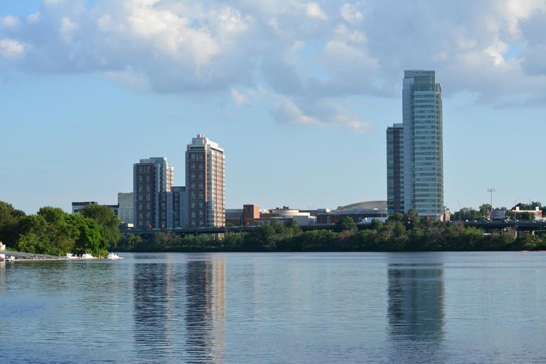 Boston University in Allston, Massachusetts along the Charles River