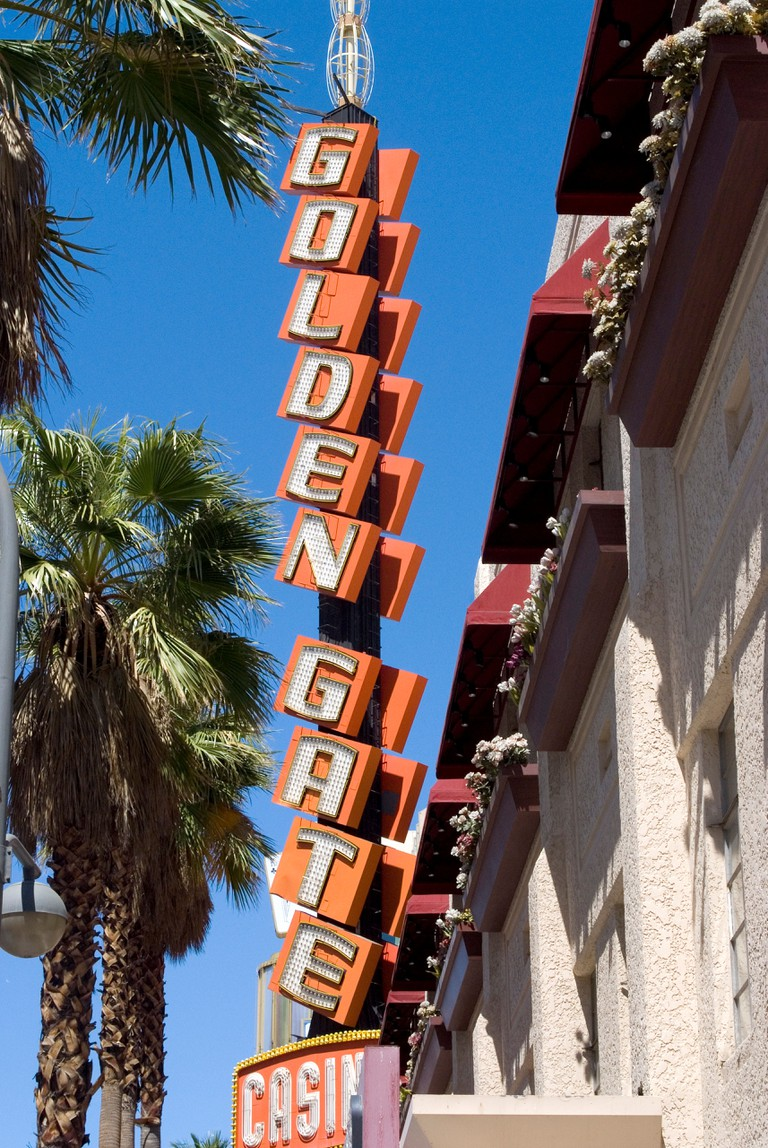The Golden Gate casino, Las Vegas's oldest gambling establishment still in operation, downtown, Nevada, USA