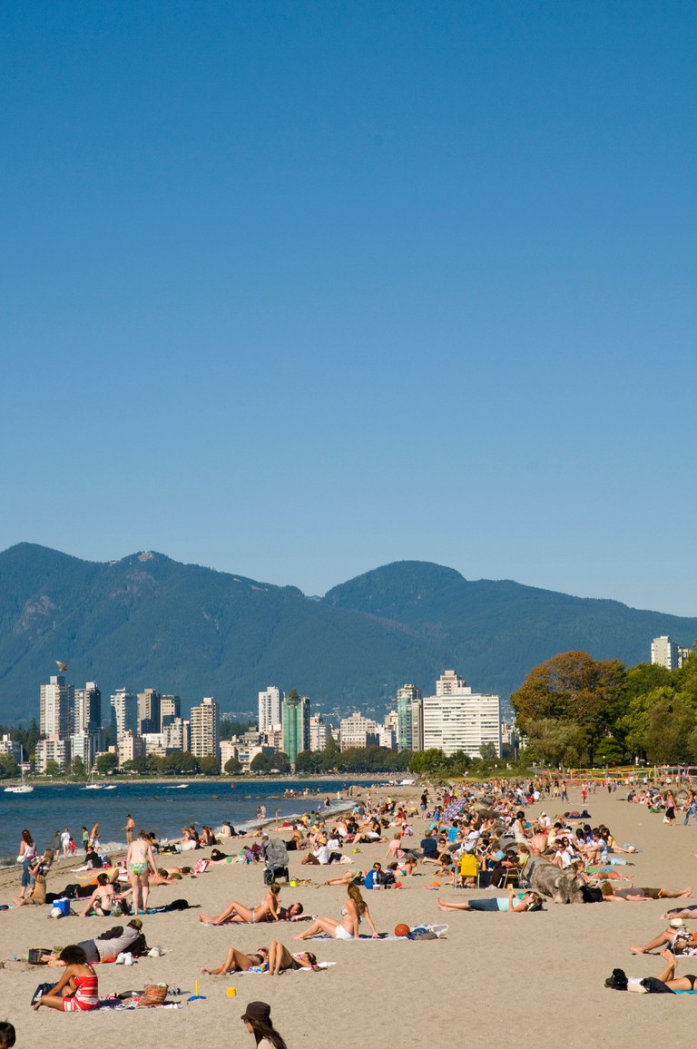 Kitsilano Beach in downtown Vancouver