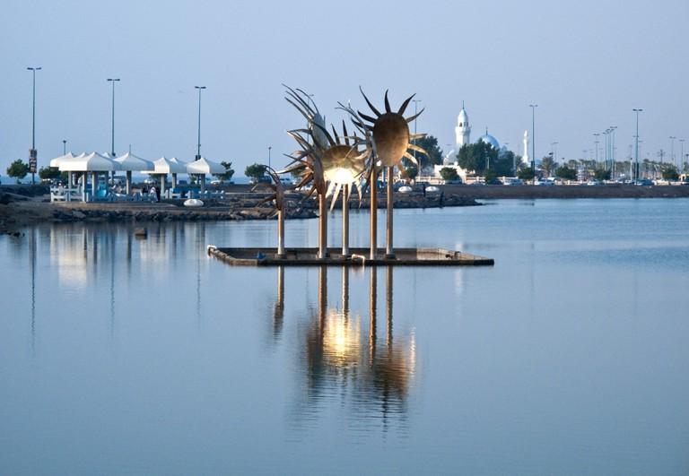 A sculpture in the Corniche area, Jeddah, Saudi Arabia