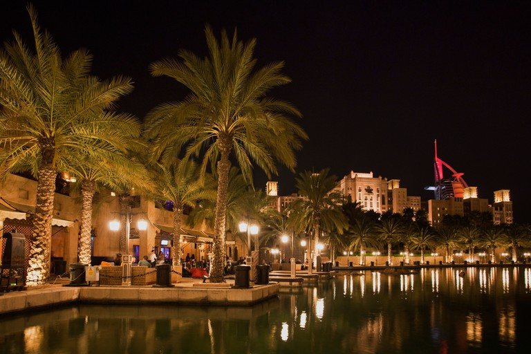 Medinat Jumeirah in the evening, Dubai