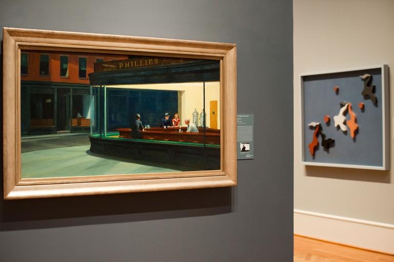 Art Institute of Chicago - Nighthawks , Edward Hopper