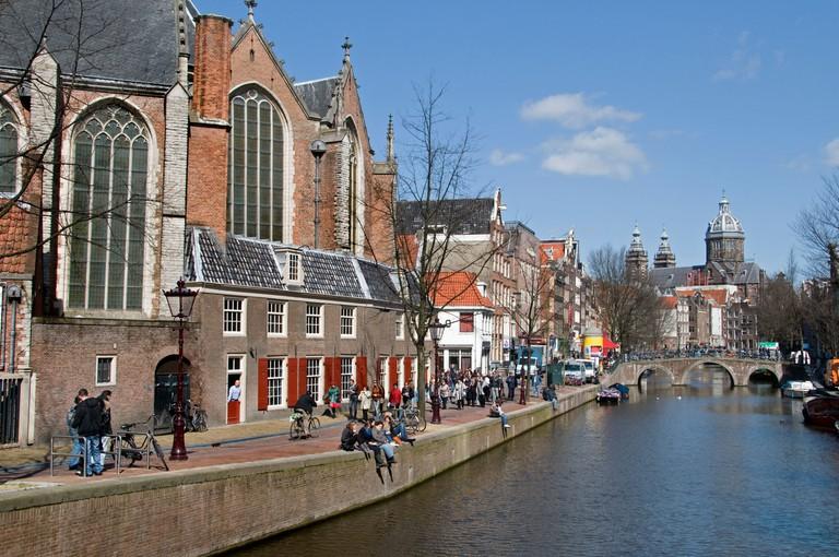 Oudezijds Voorburgwal canal, Amsterdam.
