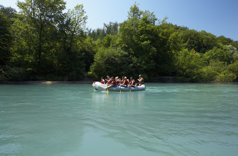 Rafting in the Aare River