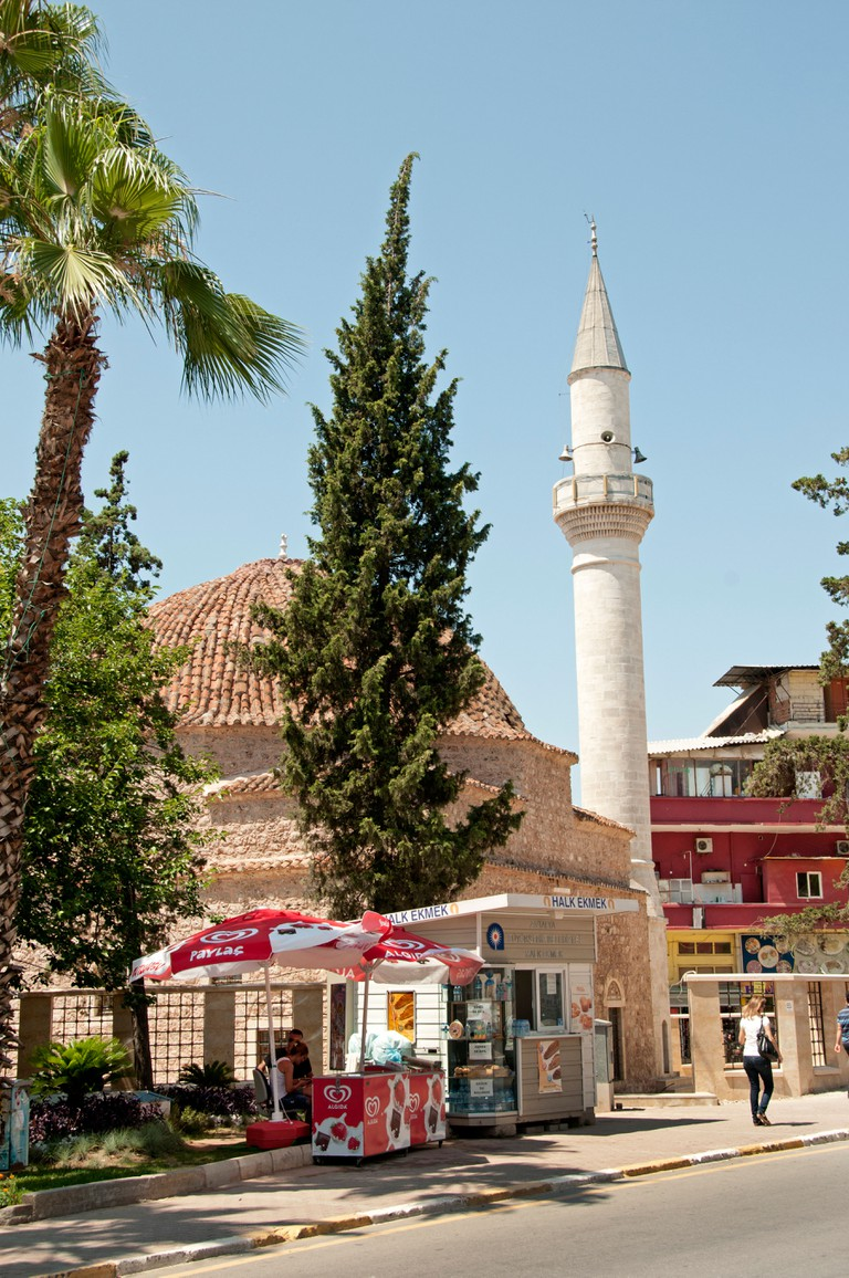 The Rüstem Pasha Mosque is in Antalya's old town