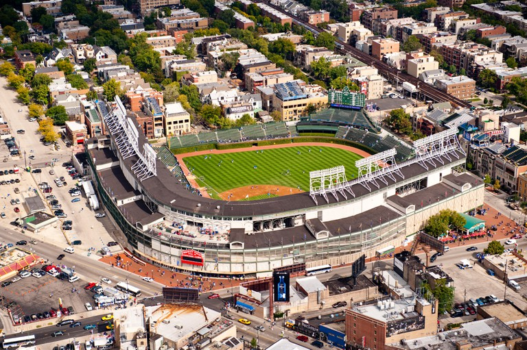 Wrigley Field in Wrigleyville