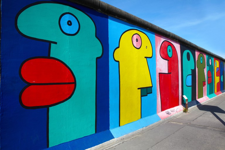 East side Gallery graffiti in Berlin