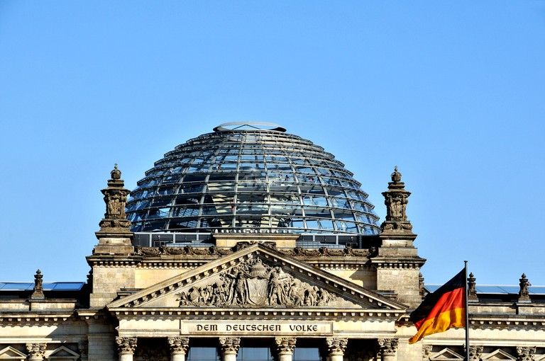 Reichstag dome in Berlin, Germany.