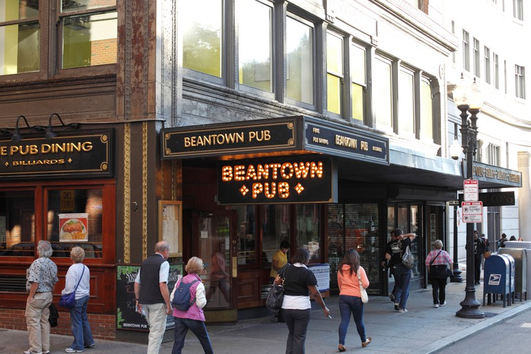 Exterior Of The Beantown Pub On Tremont Street, Boston