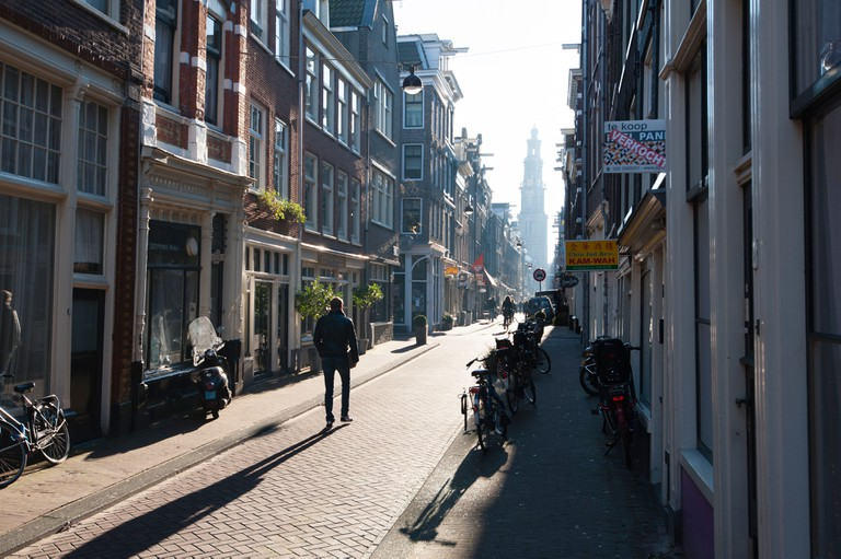 The Jordaan neighbourhood in Amsterdam has become a very trendy and arty area where also many expatriats choose to live