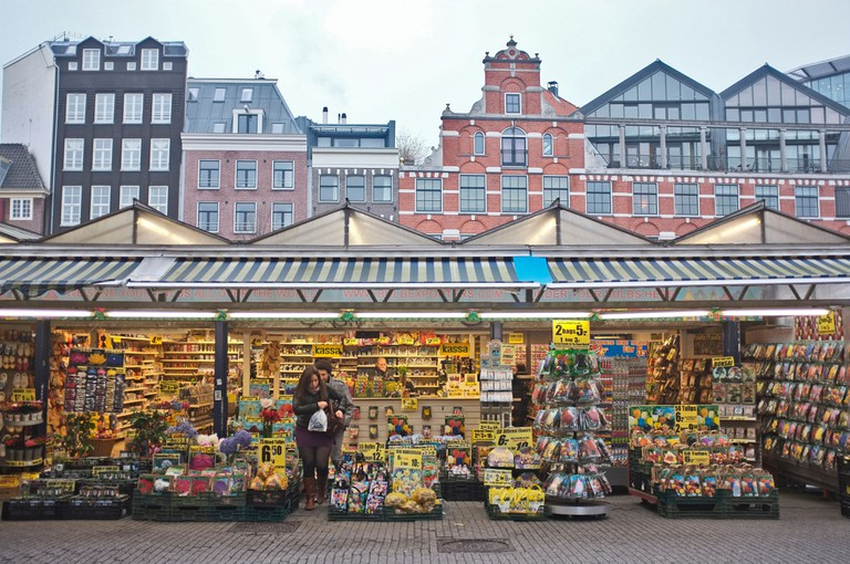 bloemenmarkt, or flower market, central amsterdam