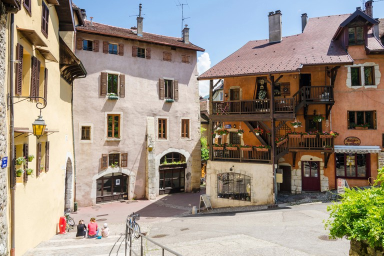 Buildings in the old town of Annecy, Haute-Savoie, Rhone-Alpes, France.