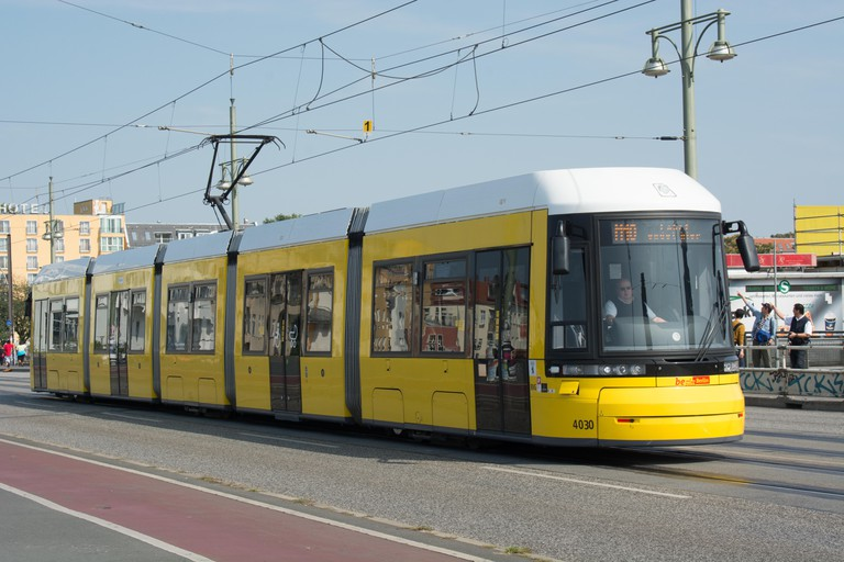 Berlin tram operated by BVG.