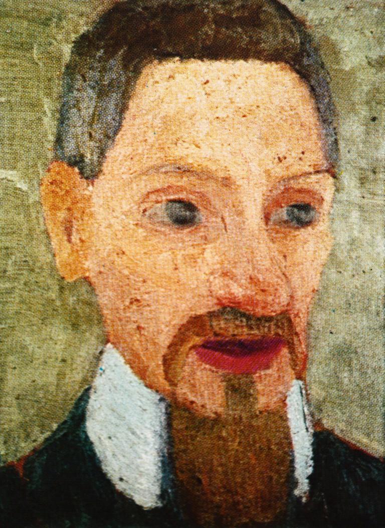 Paula Modersohn-Becker (1876-1907) Portrait of Rainer. Maria Rilke, 1906, Oil on Canvas.. Image shot 1754. Exact date unknown.