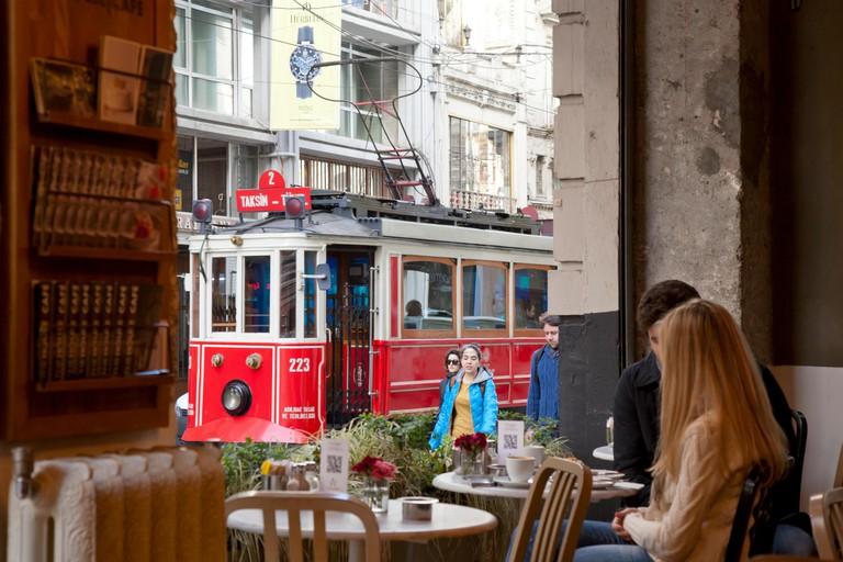 Restaurant in Istiklal Caddesi, Istanbul.
