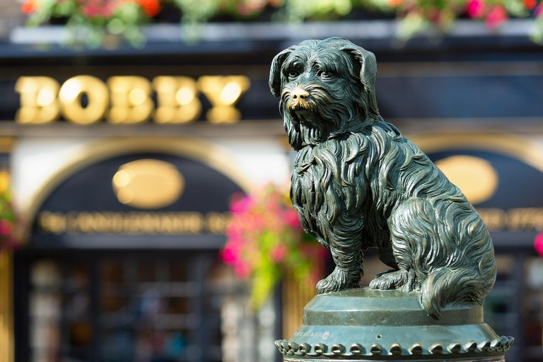 Weeping over Greyfriars Bobby, Edinburgh