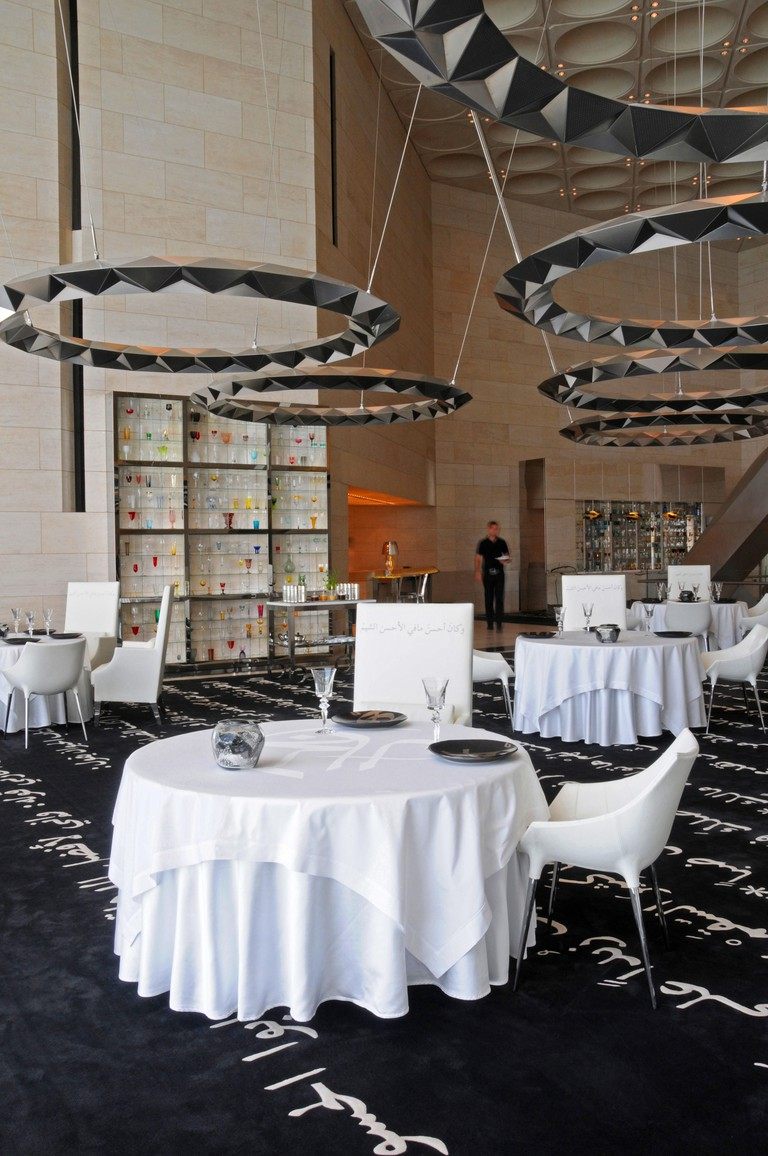 Idam Restaurant by Alain Ducasse, Museum of Islamic Art, Doha. Qatar. Middle East