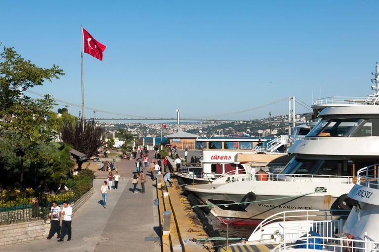 Promenade at Besiktas, Istanbul.