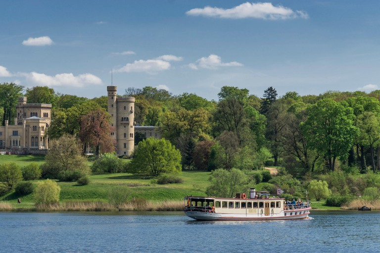 Castle Babelsberg, Tour Boat, River Havel, Potsdam, Brandenburg
