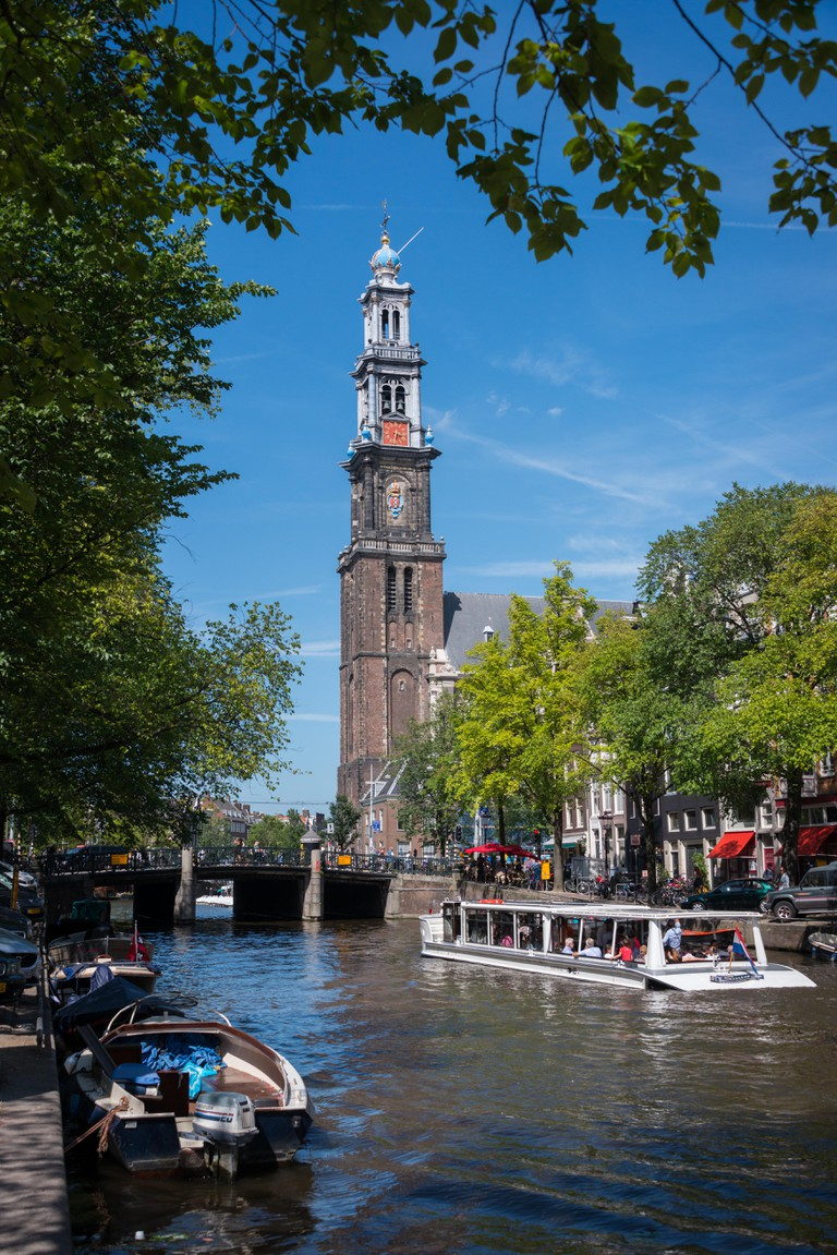 Amsterdam canals bask in the summer sunshine