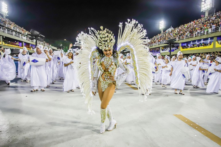 The best samba schools in Rio perform at the Sambódromo