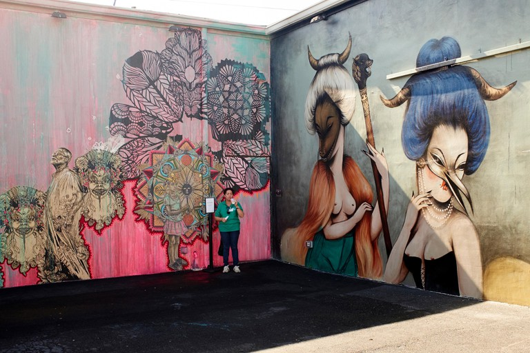 Graffiti paintings at Wynwood Walls in Miami