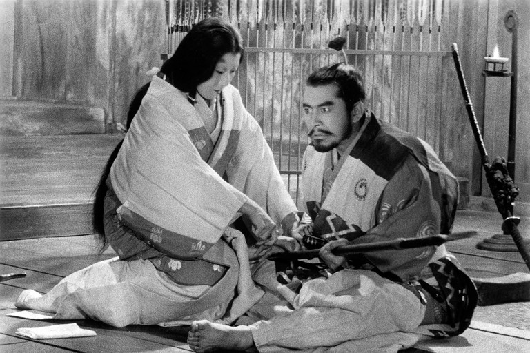 Kumonosu-jo Throne of Blood Year : 1957 Japan Director : Akira Kurosawa Toshiro Mifune, Isuzu Yamada. Image shot 1957. Exact date unknown.