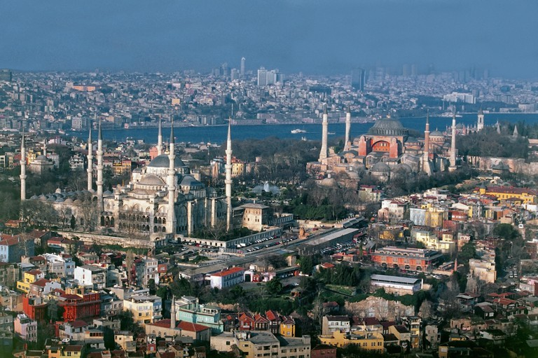 Aerial view of Sultanahmet
